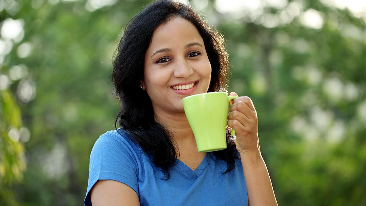 Green tea ki madad se tanav ko kam karey